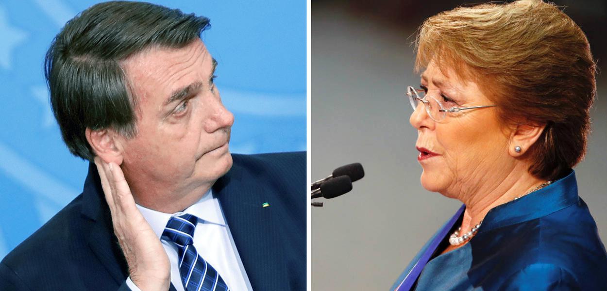 Jair Bolsonaro e Michelle Bachelet