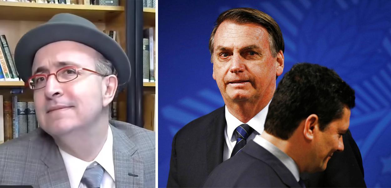 Reinaldo Azevedo, Jair Bolsonaro e Sérgio Moro