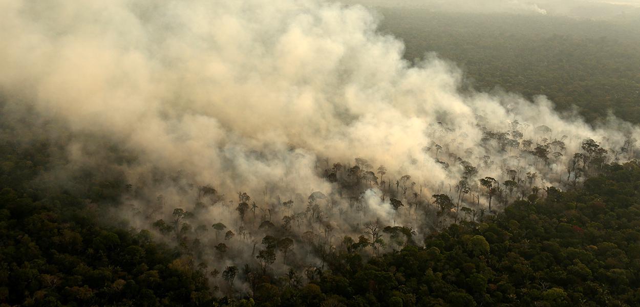 Incêndio em área da floresta amazônica na região de Porto Velho (RO) 10/09/2019