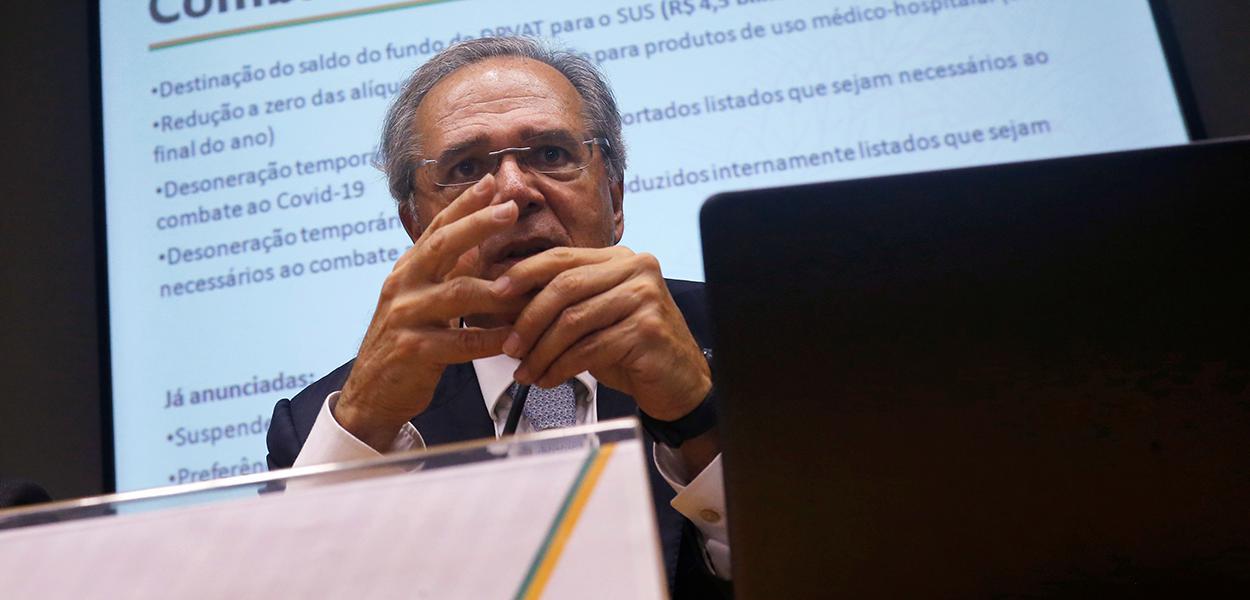 Paulo Guedes, ministro da Economia 16/03/2020