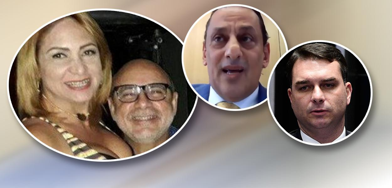 Márcia Oliveira de Aguiar, Fabrício Queiroz, Frederick Wassef e Flávio Bolsonaro