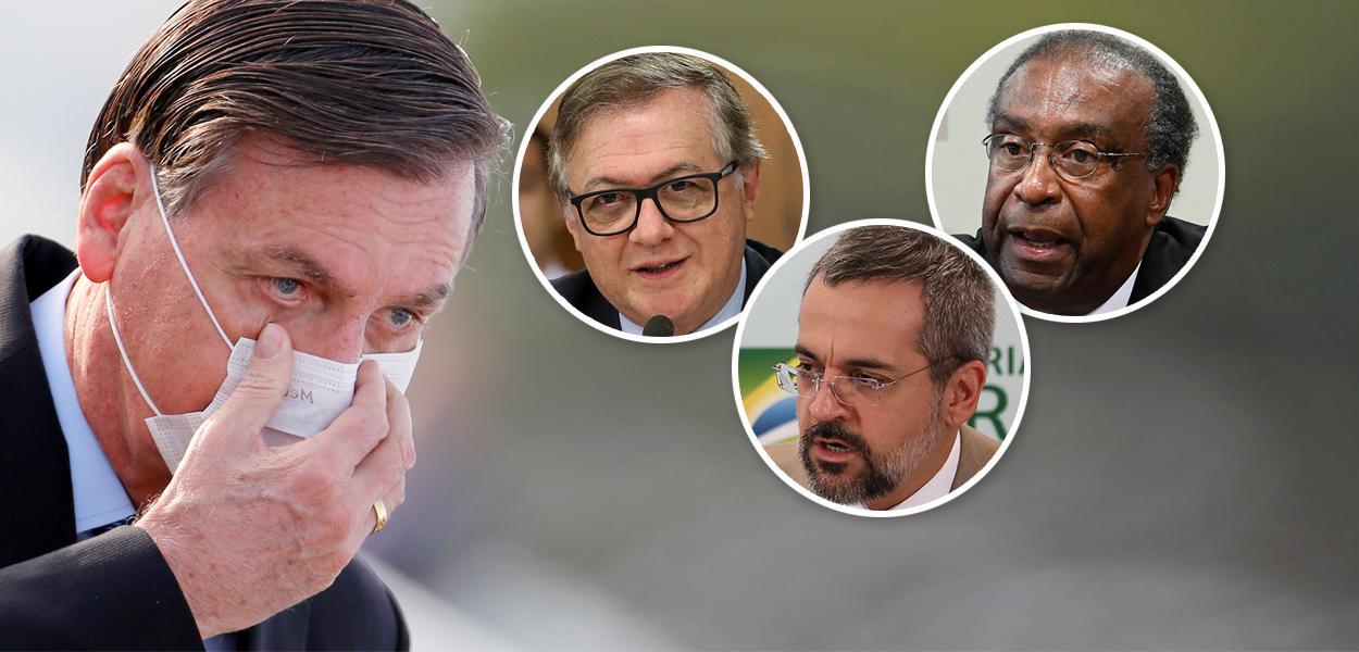 Jair Bolsonaro, Ricardo Vélez Rodrígue, Abraham Weintraub e Carlos Alberto Decotelli
