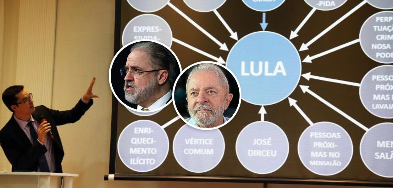 Deltan Dallagnol, Augusto Aras e Lula