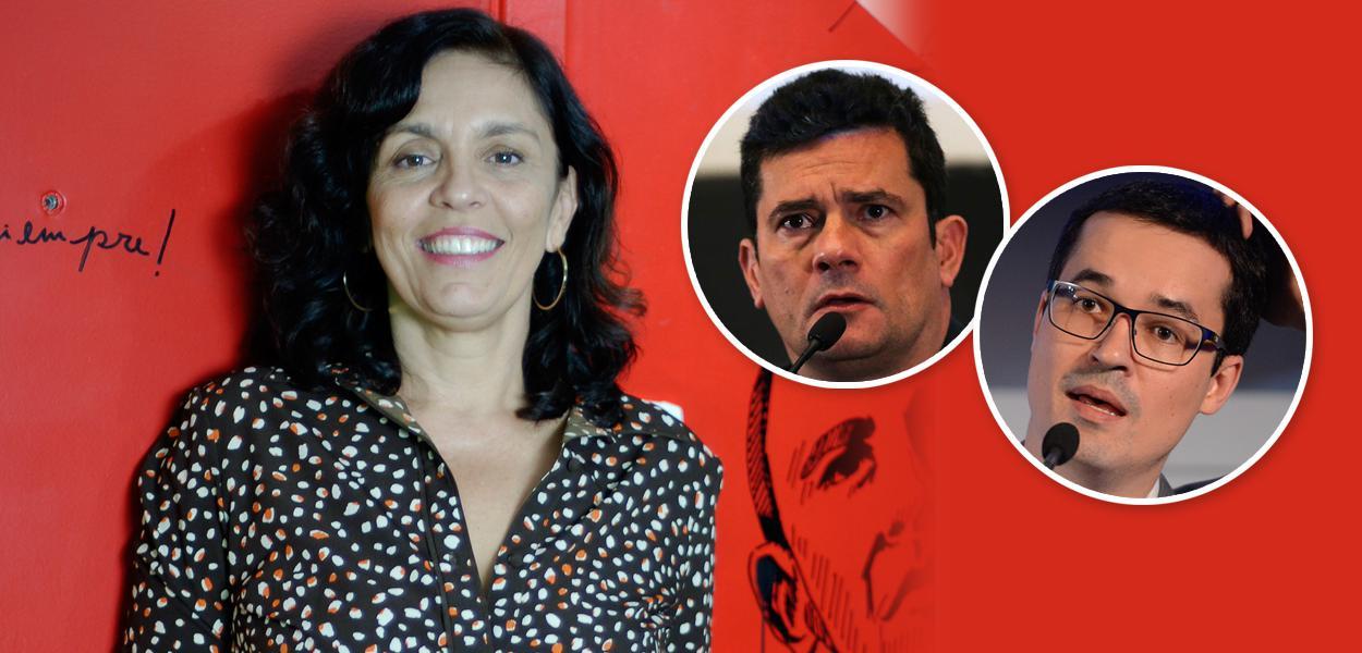 Cynara Menezes, Sérgio Moro e Deltan Dallagnol