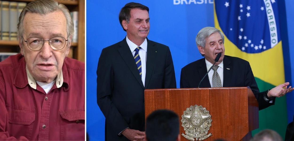 Olavo de Carvalho, Jair Bolsonaro e Augusto Heleno