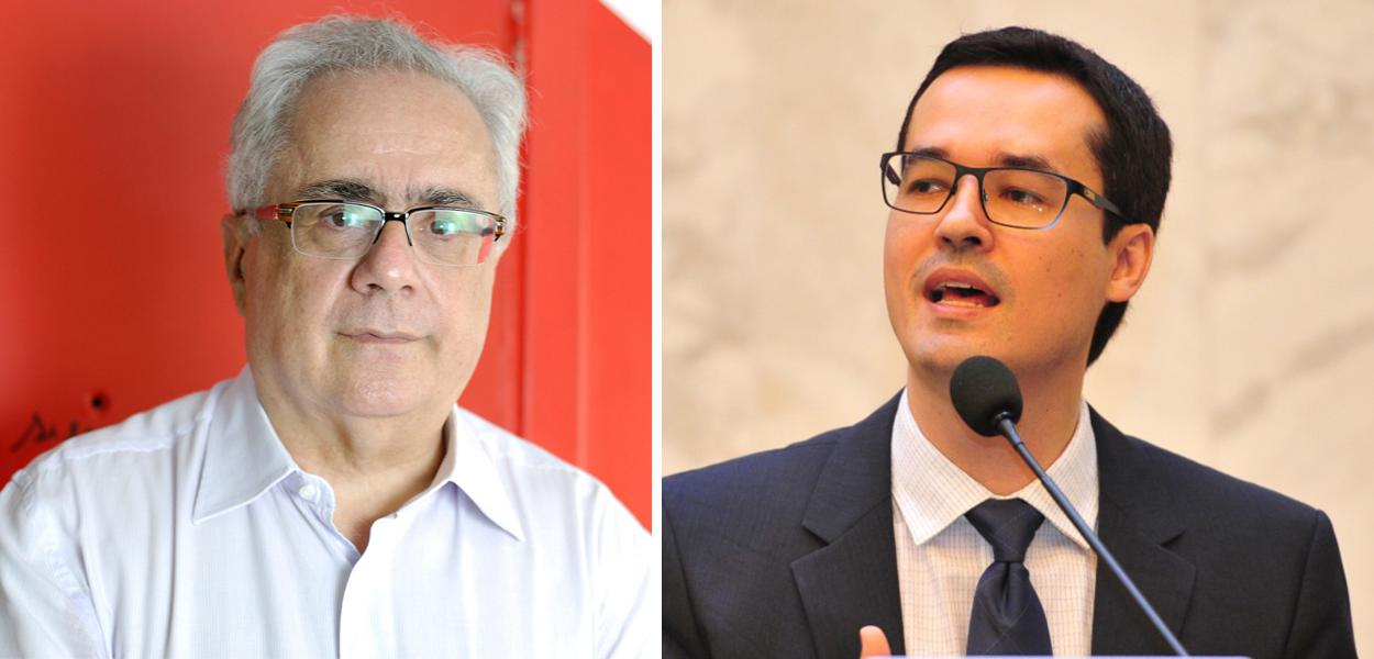 Luis Nassif e Deltan Dallagnol