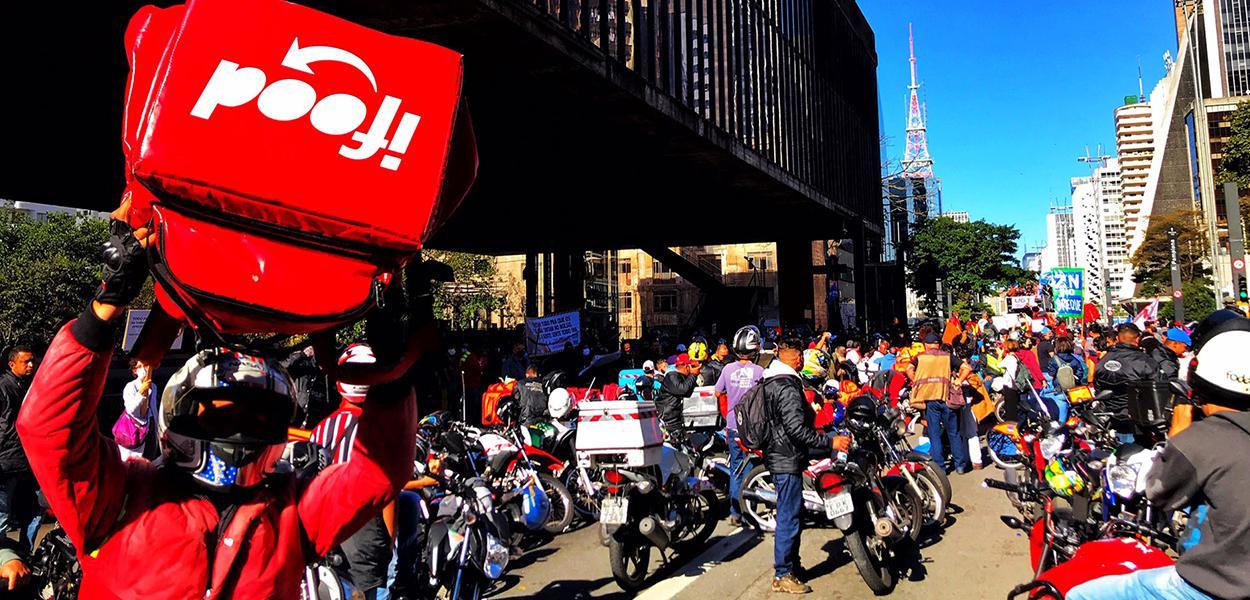 São Paulo, SP. 01 de julho de 2020 greve dos entregadores de aplicativos,