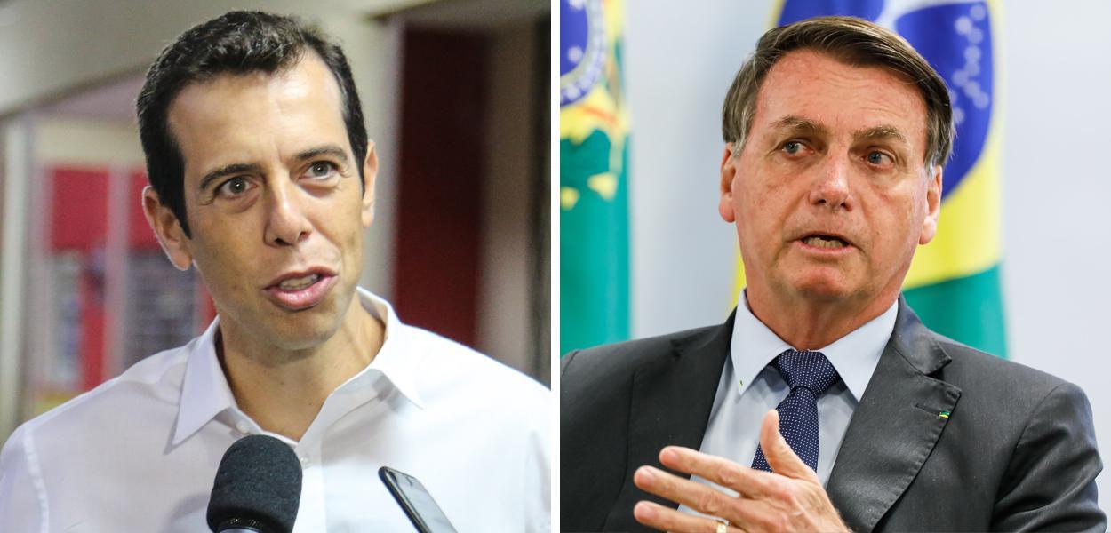 Renato Feder e Jair Bolsonaro