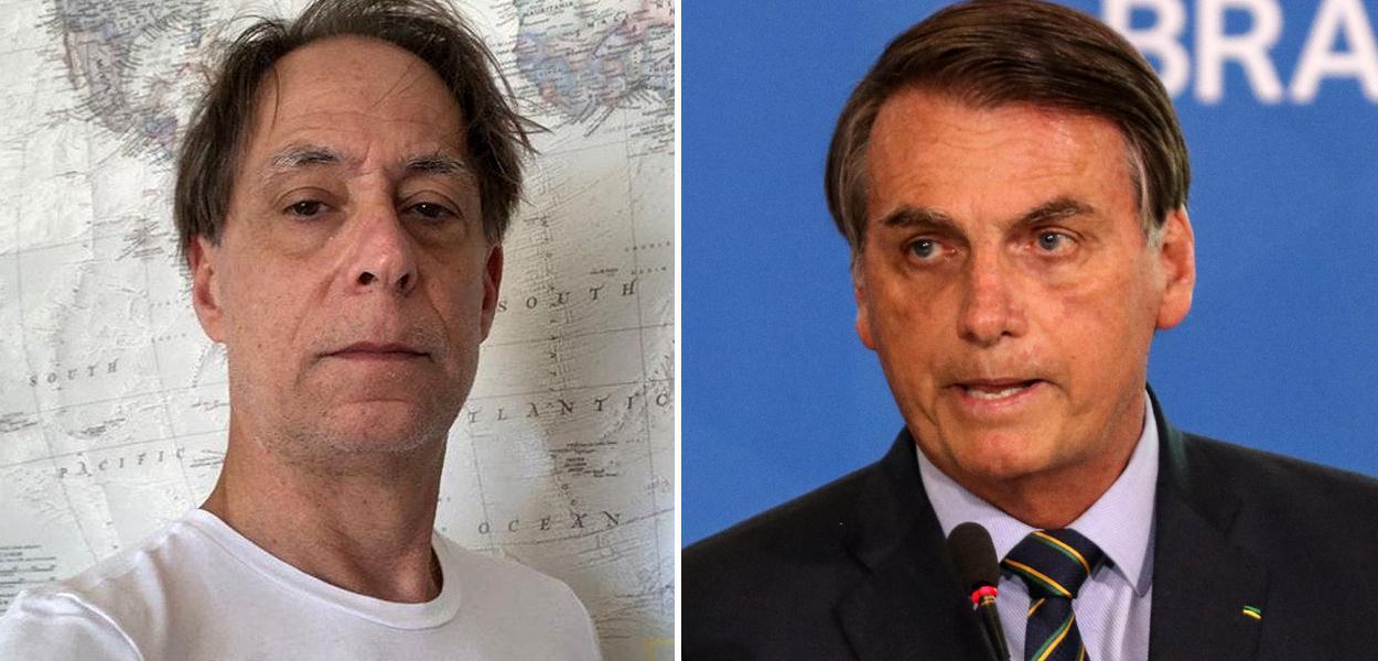 Pedro Cardoso e Jair Bolsonaro
