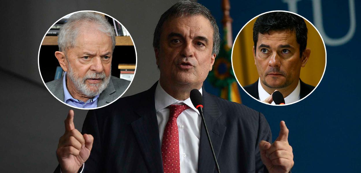 Lula, José Eduardo Cardozo e Sergio Moro
