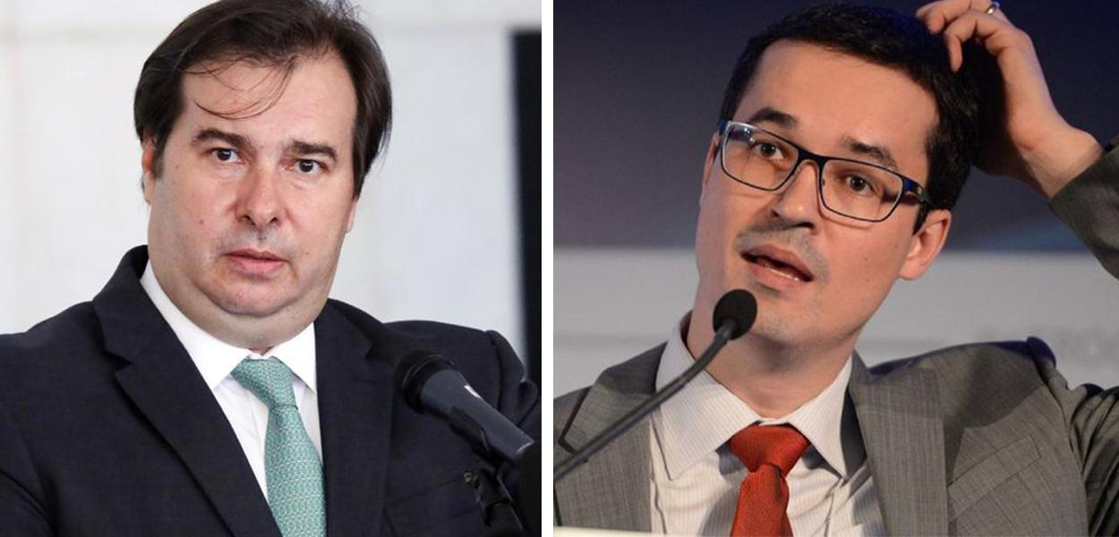 Rodrigo Maia e Deltan Dallagnol
