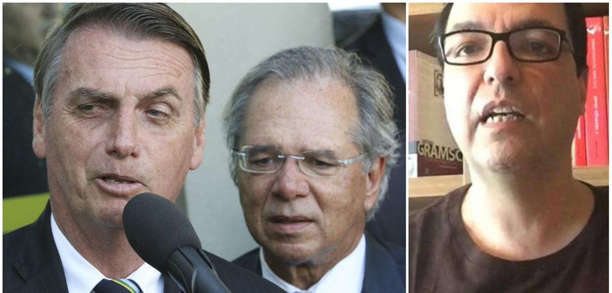 Paulo Guedes, Jair Bolsonaro e Luis Felipe Miguel