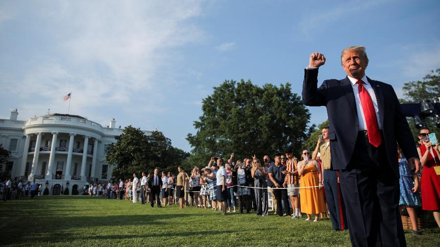 Trump dá festa na Casa Branca pelo 4 de Julho