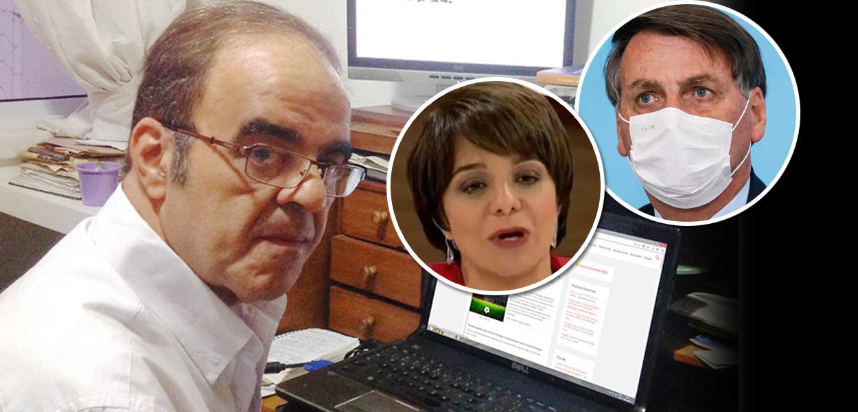 Marcelo Auler, Vera Magalhães e Jair Bolsonaro