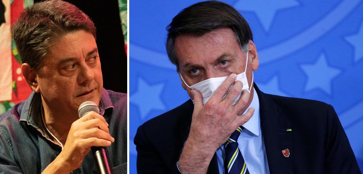 Wadih Damous e Jair Bolsonaro