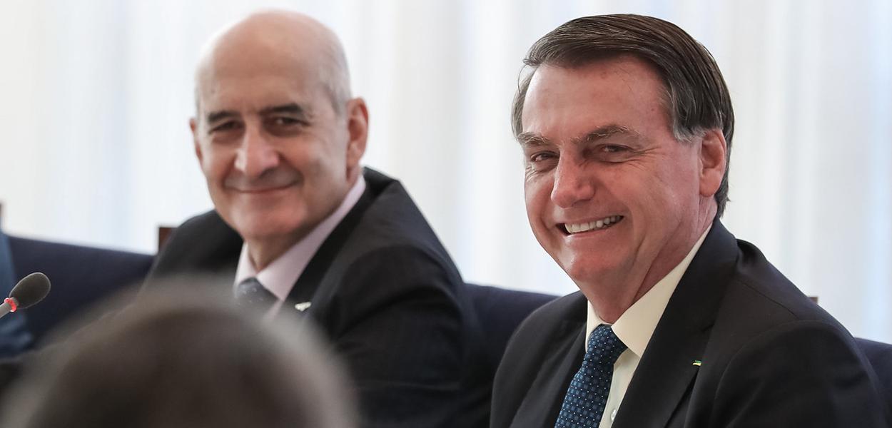 Luiz Eduardo Ramos e Jair Bolsonaro