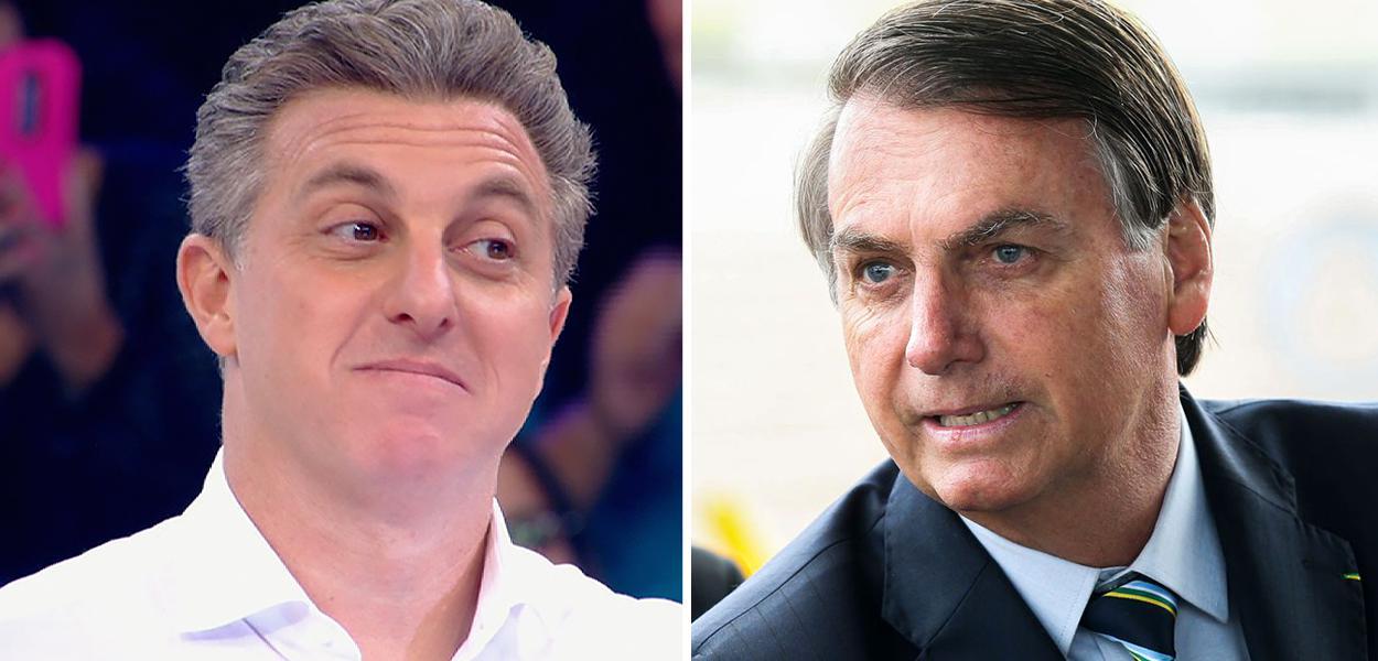 Luciano Huck e Jair Bolsonaro