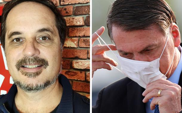 Rodrigo Vianna e Jair Bolsonaro