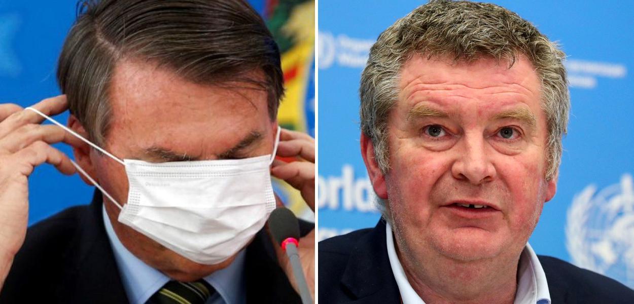 Jair Bolsonaro e Mike Ryan, chefe de operações da OMS