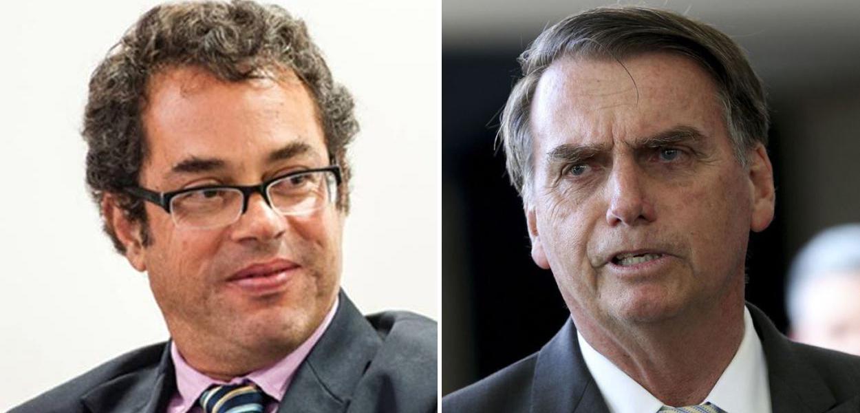 Hélio Schwartsman e Jair Bolsonaro