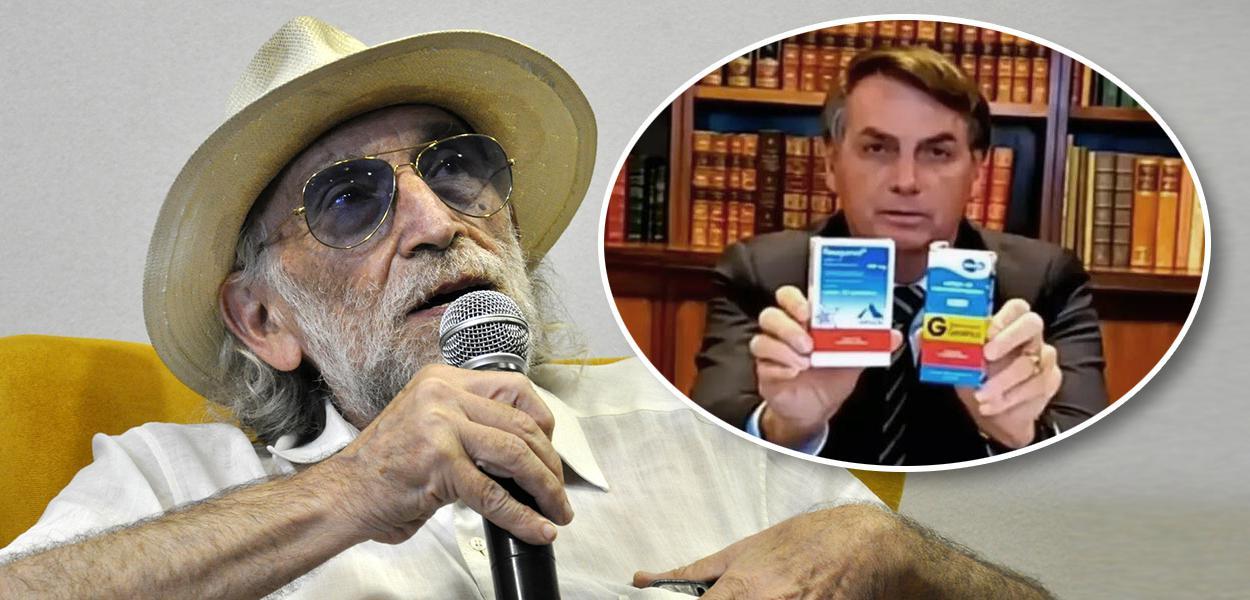 Alex Solnik e Jair Bolsonaro