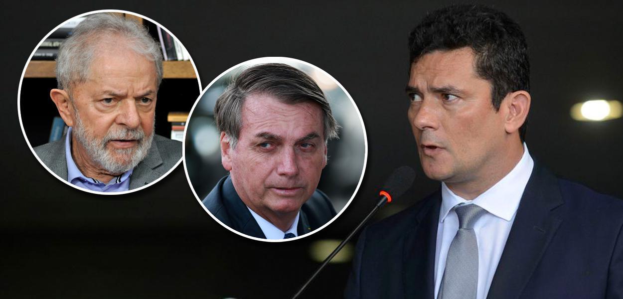 Lula, Bolsonaro e Sergio Moro