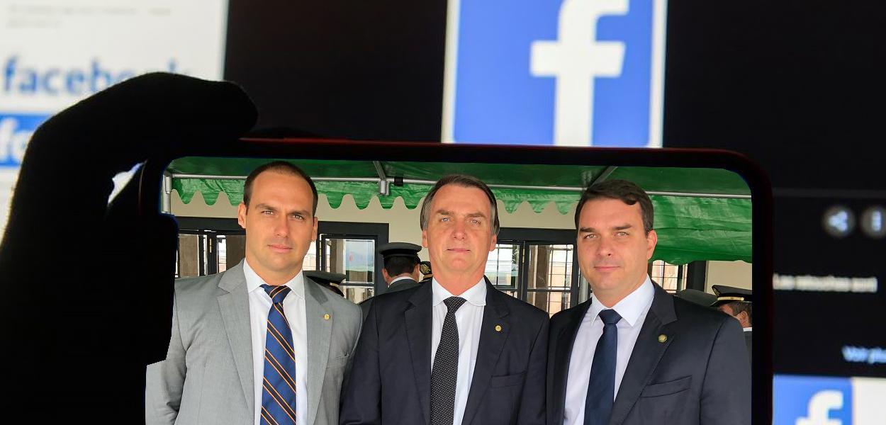 Eduardo, Jair e Flávio Bolsonaro