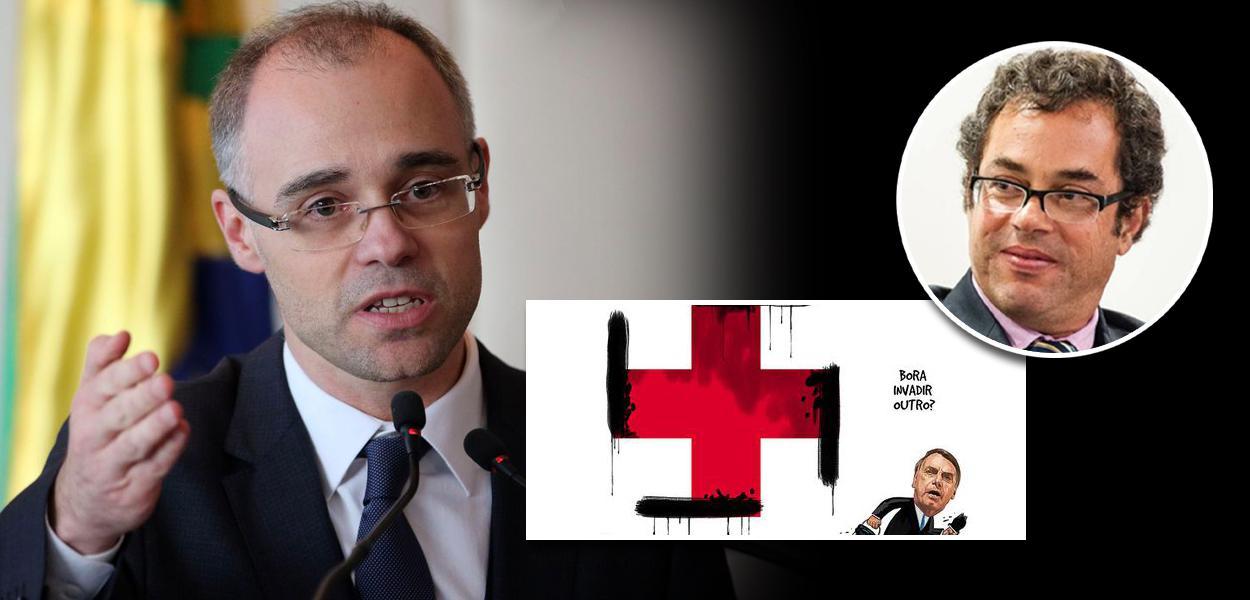 Ministro da Justiça, André Mendonça, e Hélio Schwartsman