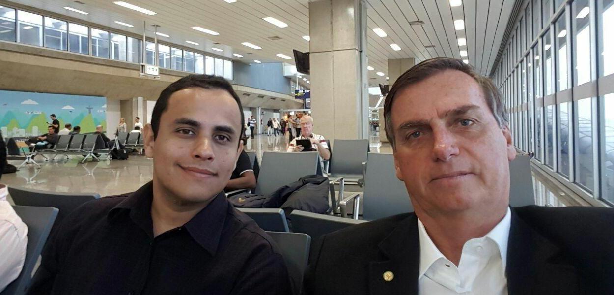 Tércio Arnaud Thomaz e Jair Bolsonaro