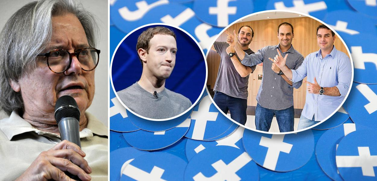 Paulo Moreira Leite, Mark Zuckerberg e irmãos Bolsonaro