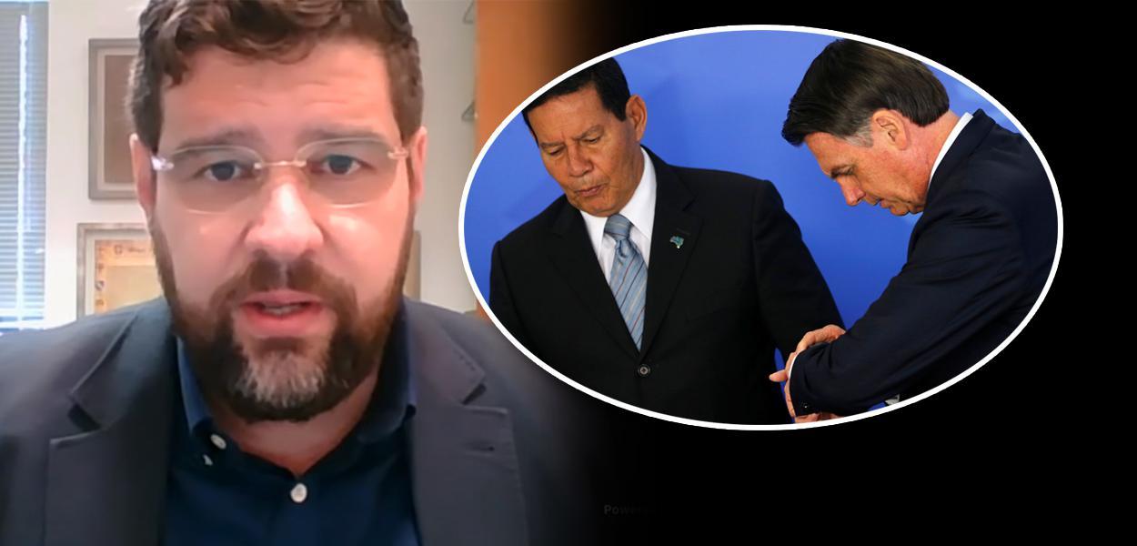 Marcelo Uchôa, Hamilton Mourão e Jair Bolsonaro