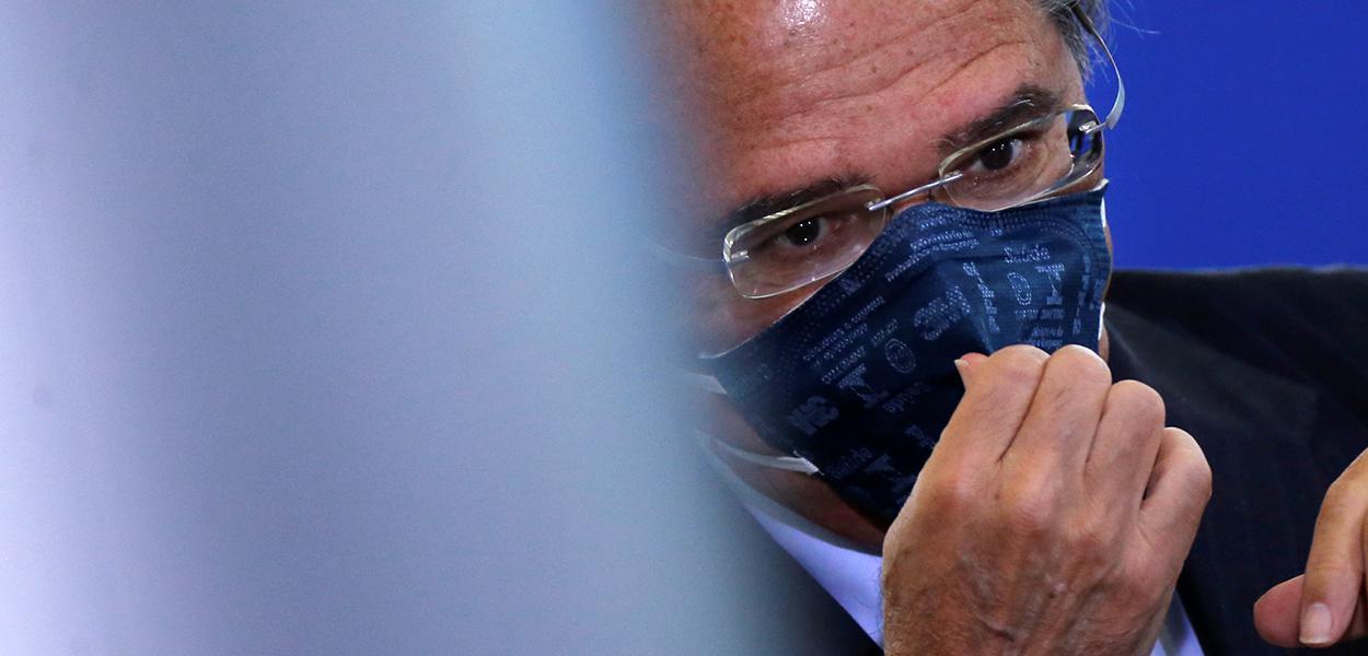 Ministro Paulo Guedes, durante evento no Palácio do Planalto 17/6/2020