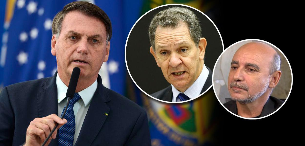 Jair Bolsonaro, João Otávio de Noronha e Fabrício Queiroz