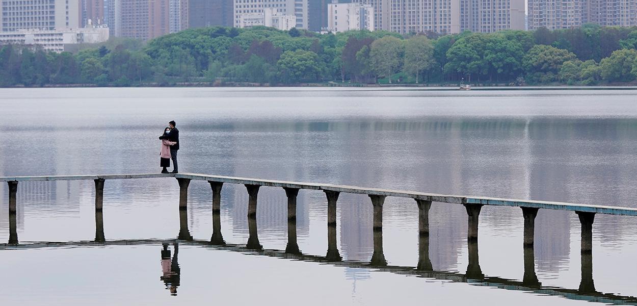 Vista da cidade de Wuhan