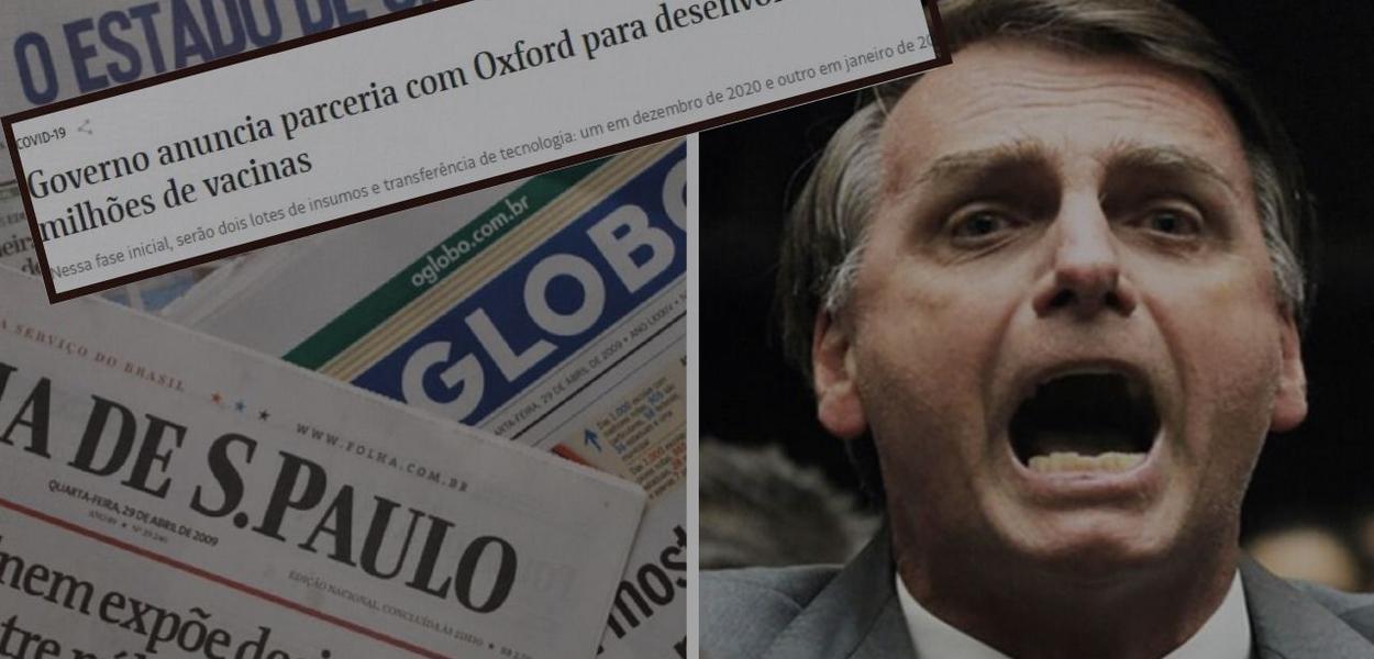Bolsonaro e jornais brasileiros
