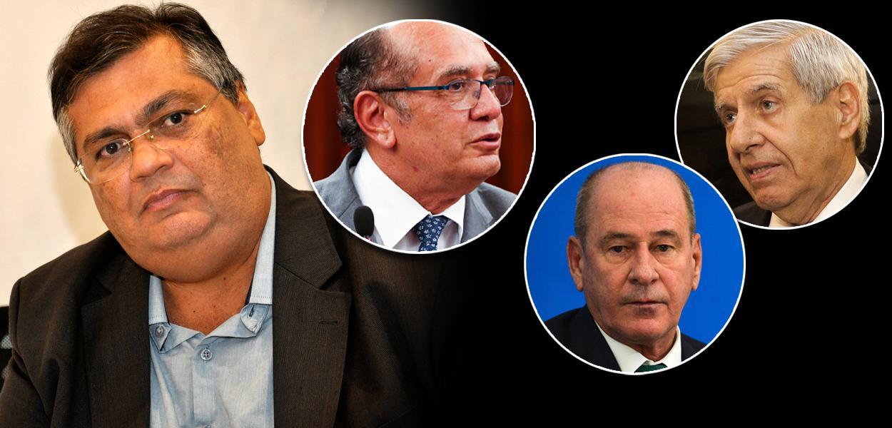 Governador do Maranhão, Flávio Dino, Gilmar Mendes (STF) e os militares