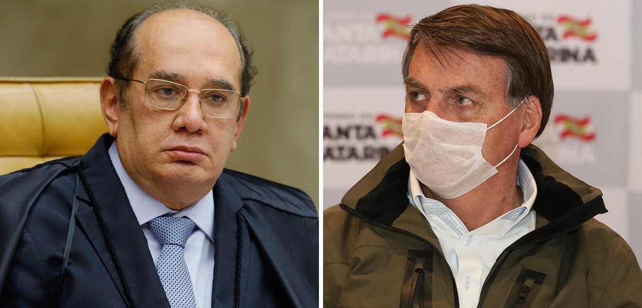 Gilmar Mendes e Jair Bolsonaro