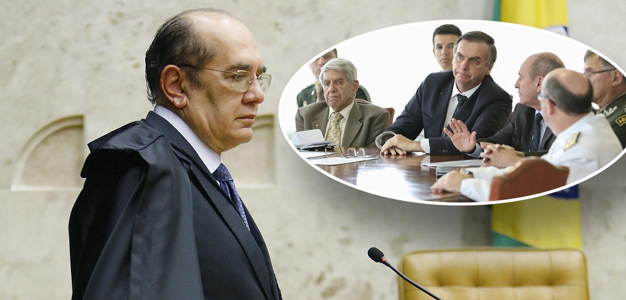 Gilmar Mendes, Jair Bolsonaro com militares
