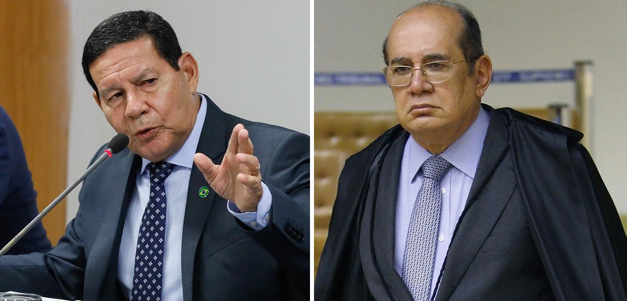 Hamilton Mourão e Gilmar Mendes