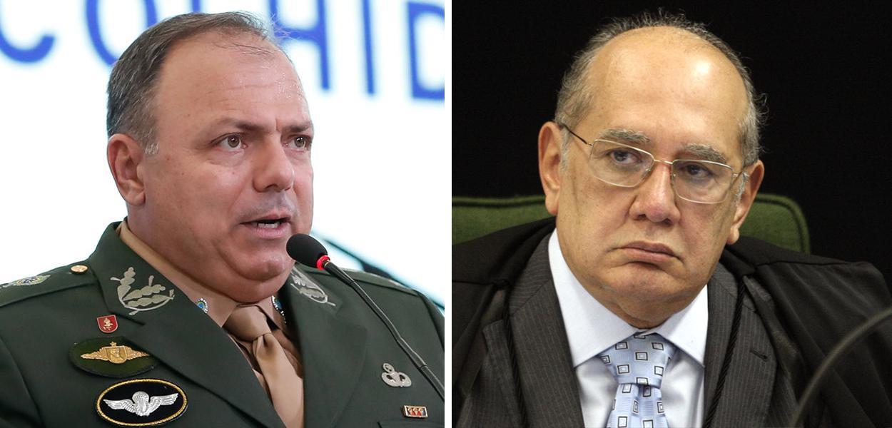 Eduardo Pazuello e Gilmar Mendes