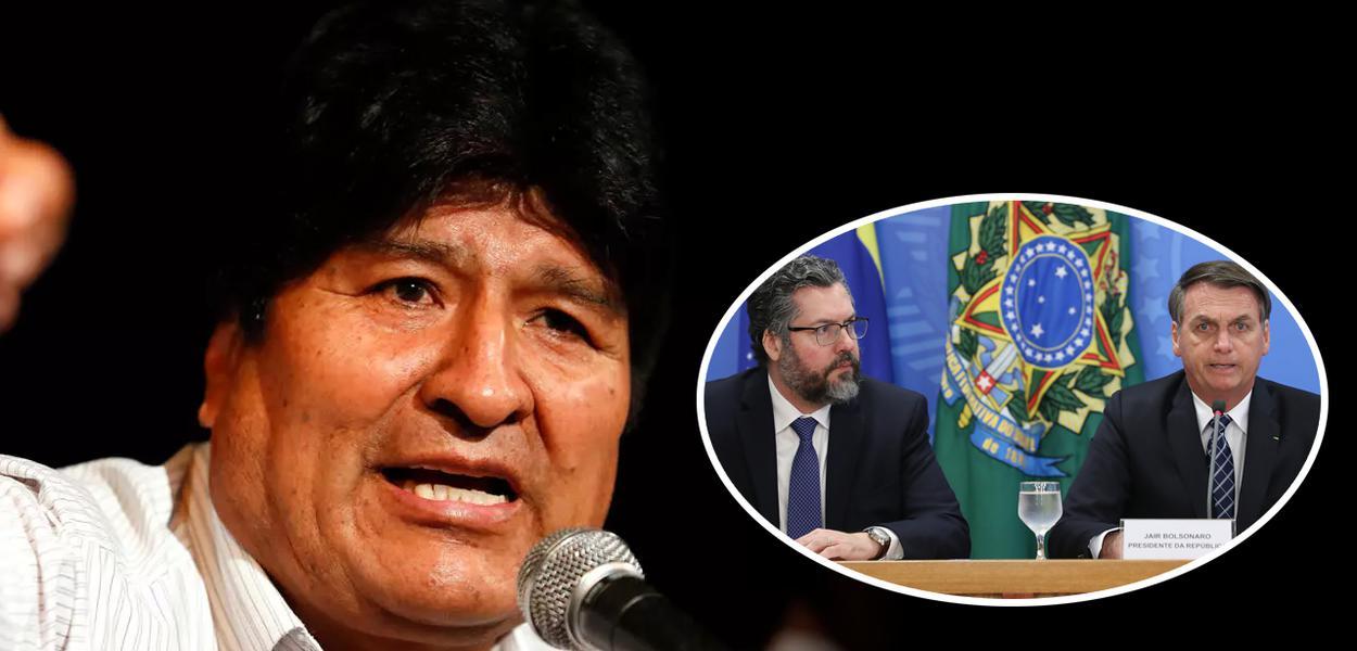 Evo Morales, Ernesto Araújo e Jair Bolsonaro