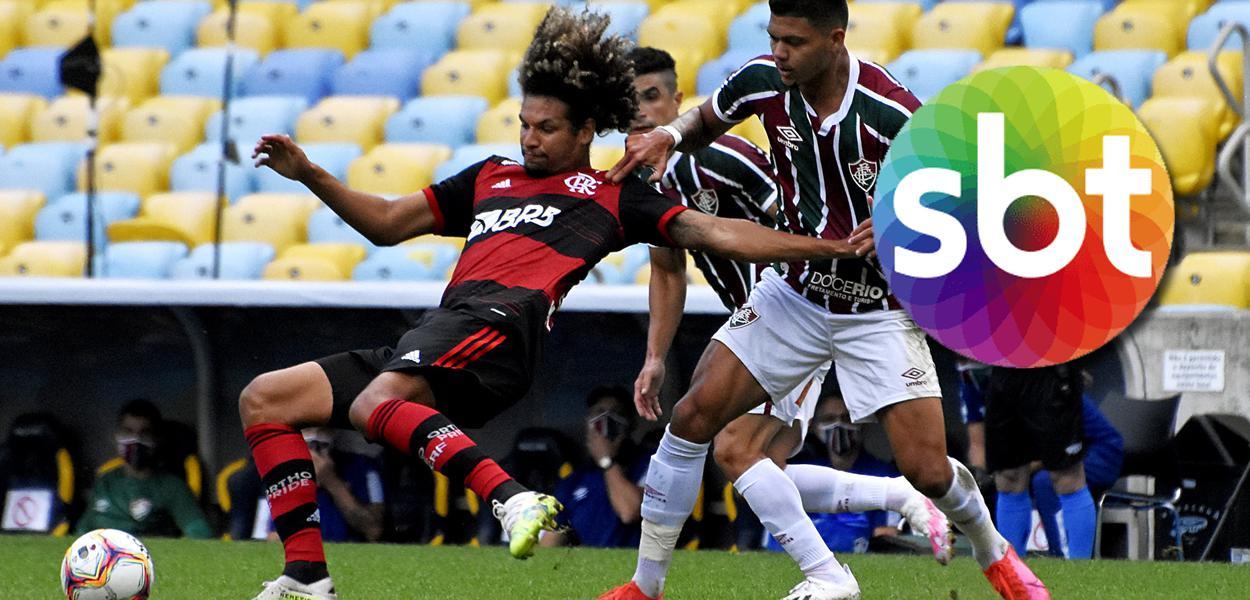 Jogo entre Flamengo e Fluminense