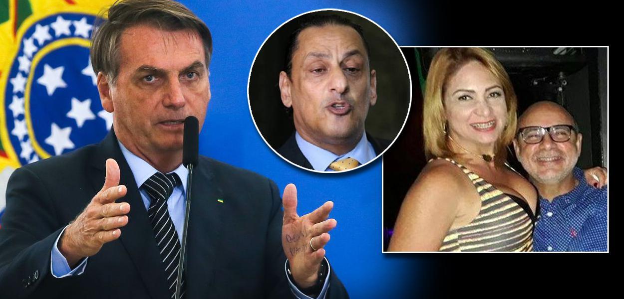 Jair Bolsonaro, Frederick Wassef, Márcia Aguiar e Fabrício Queiroz