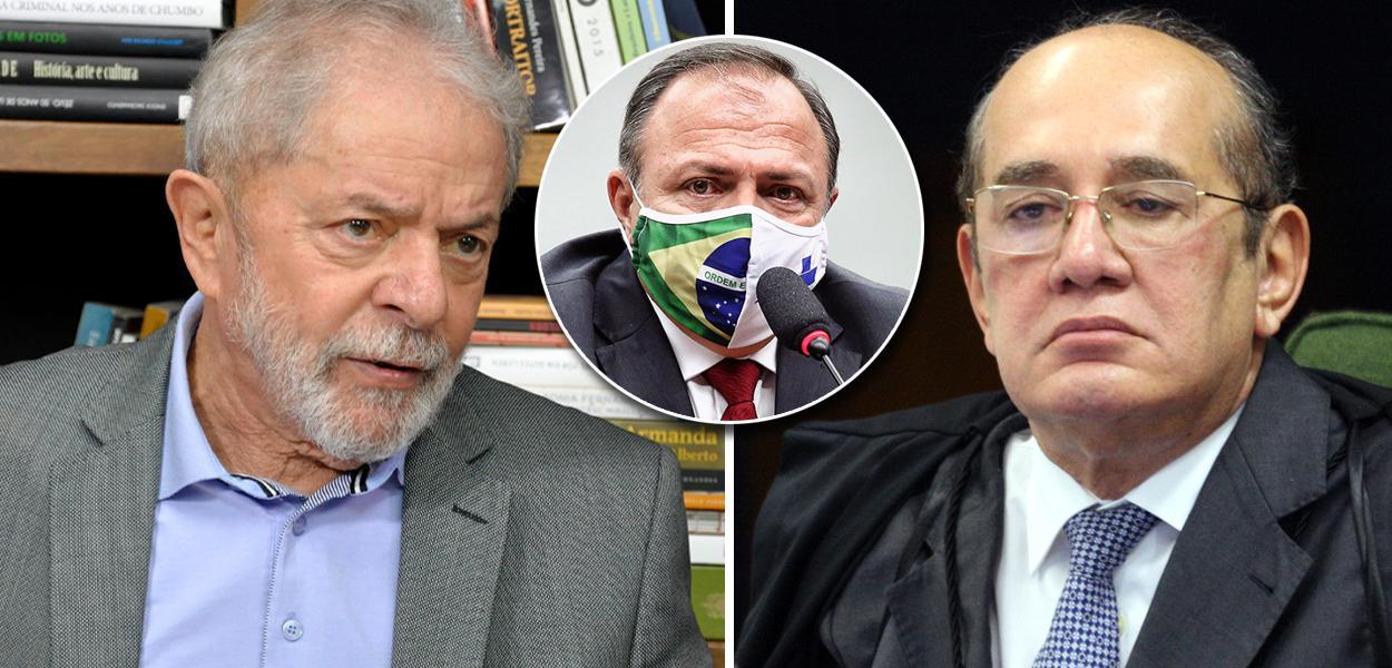 Lula, Eduardo Pazuello e Gilmar Mendes