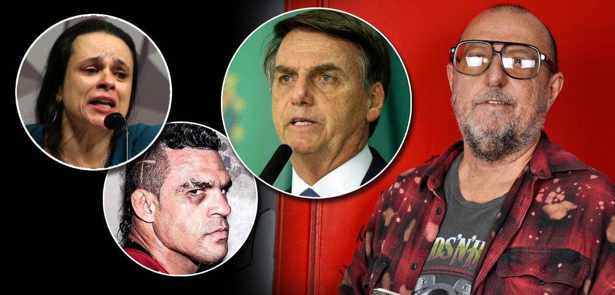 Deputada Janaina Paschoal; lutador Vitor Belfort; Jair Bolsonaro; e o escritor Xico Sá