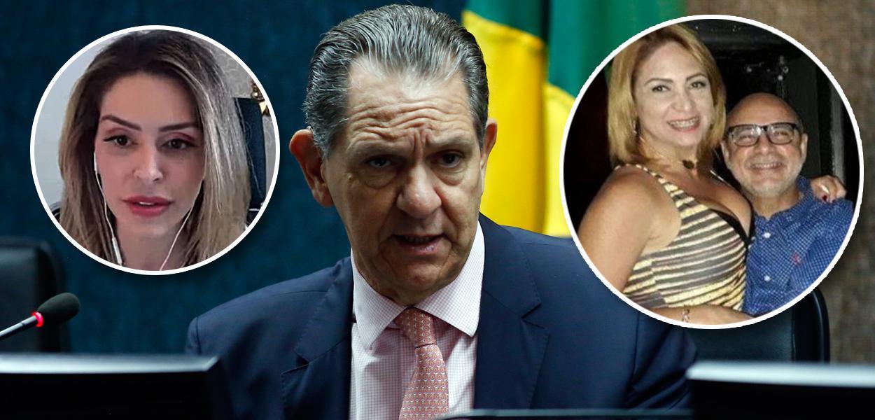Anna Carolina Noronha, João Otávio de Noronha, Márcia Aguiar e Fabrício Queiroz
