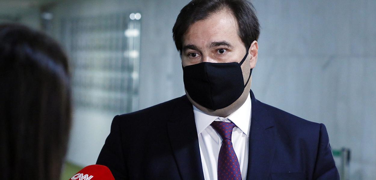 Presidente da Câmara dos Deputados, dep. Rodrigo Maia, concede entrevista coletiva sobre a atividade legislativa durante a crise causada pelo coronavírus 16 de julho de 2020
