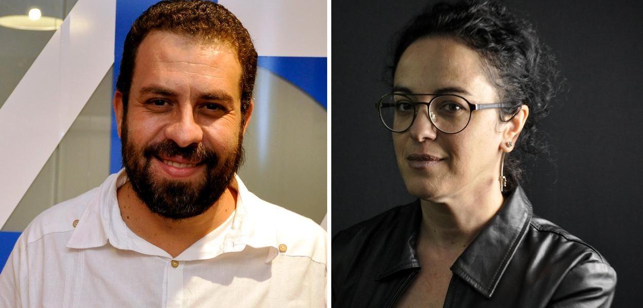 Guilherme Boulos e Marcia Tiburi