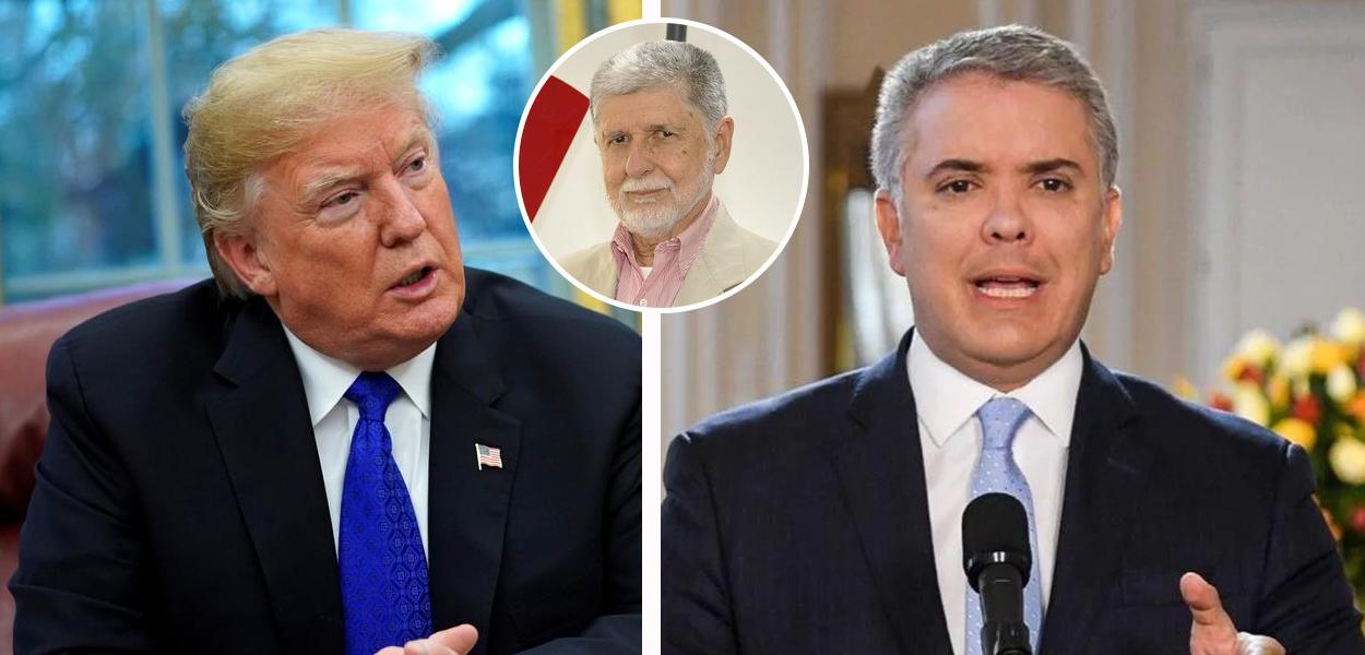 Donald Trump, Ivan Duque e Celso Amorim