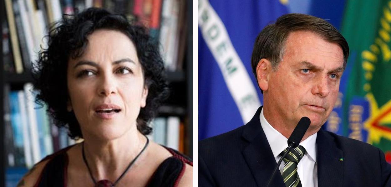 Marcia Tiburi e Jair Bolsonaro